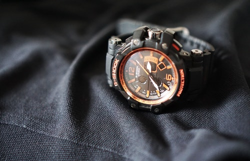 black gshock watch