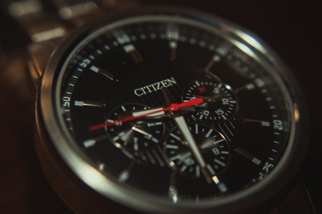 citizen watch with three chronographs