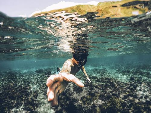 snorkeling in Lembongan